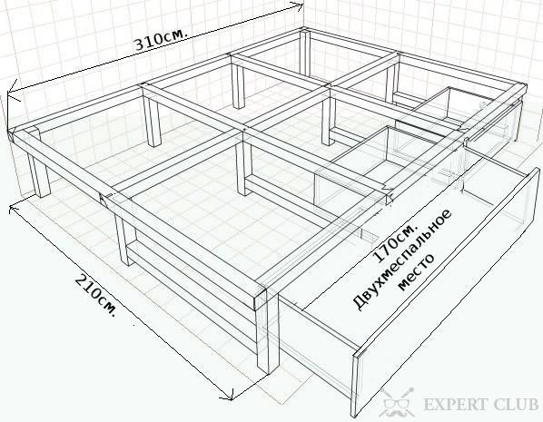 Каркас для подиум для кровати