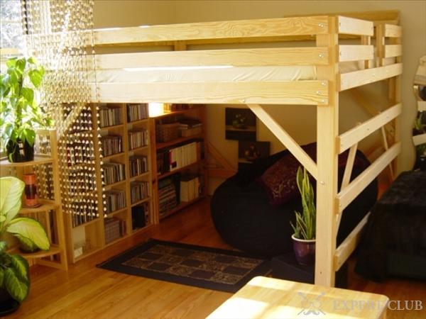 Кровать-чердак с шкафом своими руками