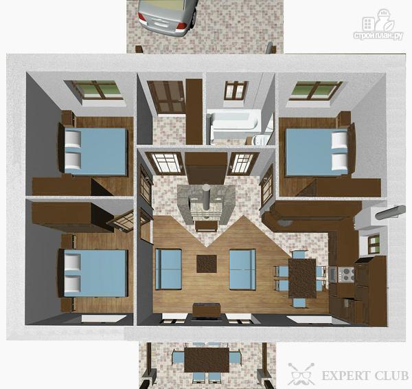 Одноэтажный дом планировка внутри фото