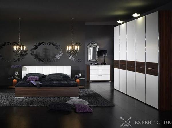 Спальня дизайн фото в темных тонах
