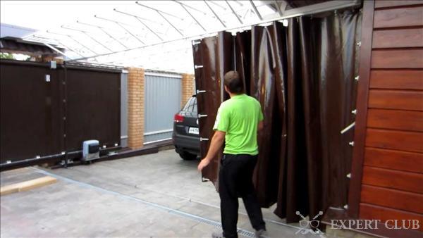 Штора в гараж на ворота своими руками
