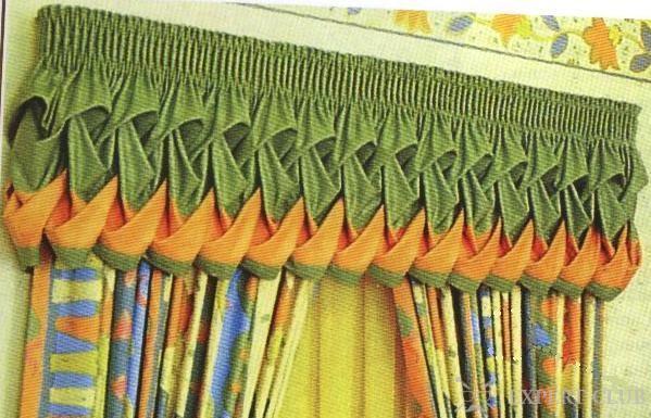 Буфы на шторах