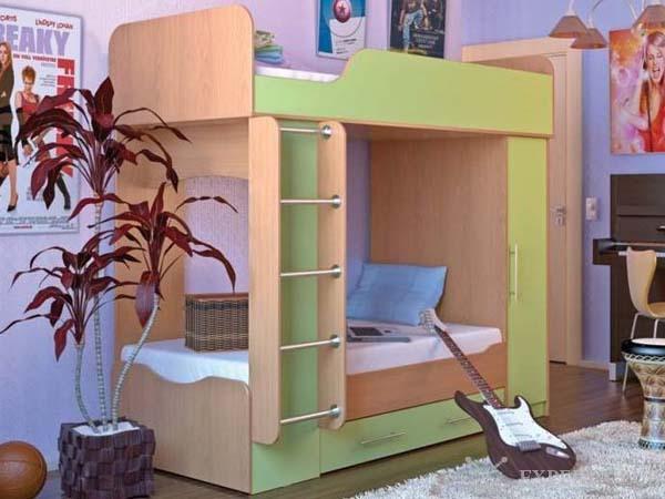 Двухъярусная кровать из ЛДСП
