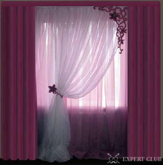 смотреть шторы для спальни фото
