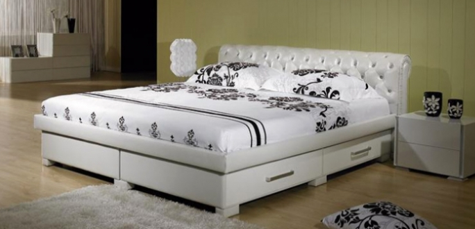 Кровать полуторку с ящиками для белья