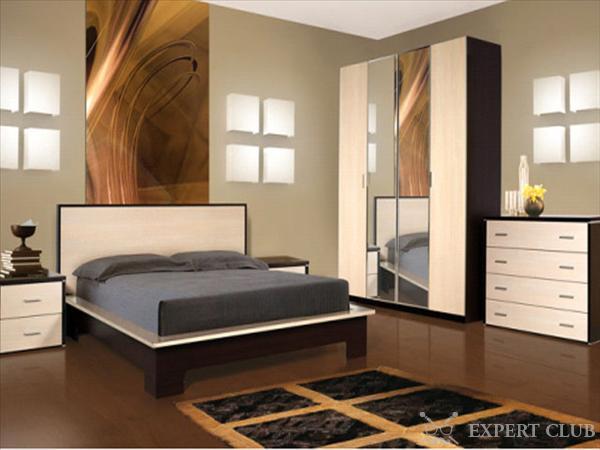 Двуспальная кровать венге