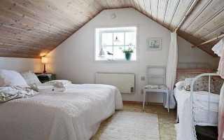 Спальня на мансарде — оформление помещения