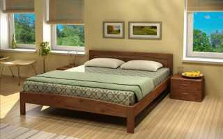 Кровать из массива сосны в спальню