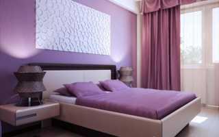 Спальня в сиреневых тонах — создаем лиловые оттенки в дизайне