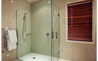 Стеклянные шторы для ванной и душа
