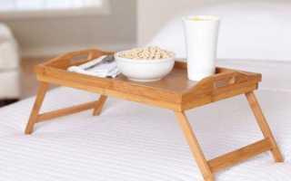 Удобный столик в кровать: преимущества и недостатки