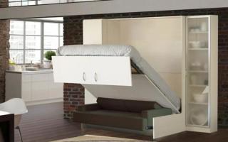 Двуспальная кровать-трансформер с диваном: универсальный спальный комбайн