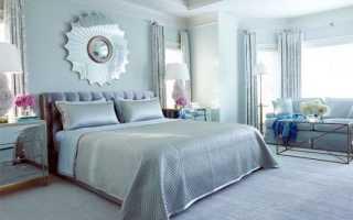 Голубая спальня – небесный цвет в оформлении комнаты