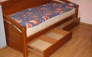 Кровать с выдвижными ящиками – удобство и комфорт в одном флаконе
