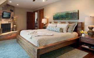 Двуспальные кровати из массива дерева: виды и особенности