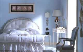 Cпальня в голубых тонах — правильное комбинирование цвета
