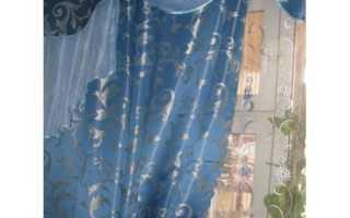Голубые шторы – безвкусица или изюминка интерьера?