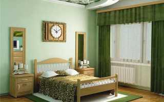 Зеленая спальня – модная тенденция для современного человека