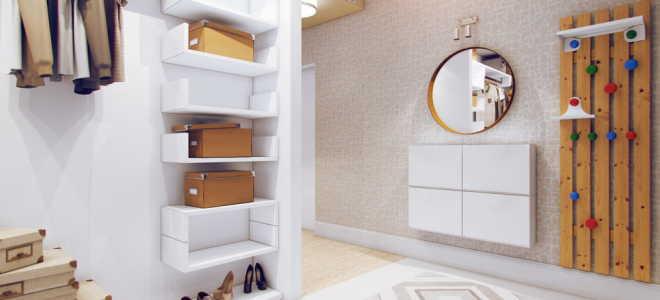 Трансформация пространства в помещении прихожей