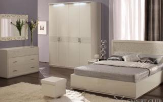 """Мебель для спальни """"Белый Глянец"""" – элитный гарнитур в вашей спальне"""
