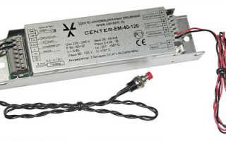 Светодиодные светильники с блоком аварийного питания