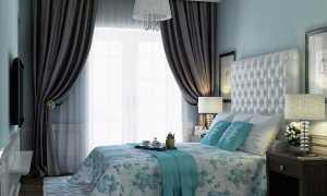 Бирюзовая спальня: шик