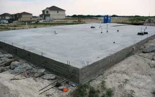 Фундамент плита (плитный) — технология строительства своими руками под частный дом