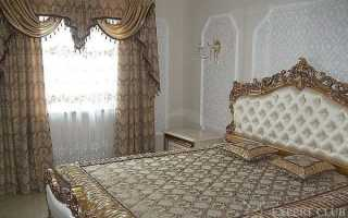 Комплект для спальни — шторы и покрывало