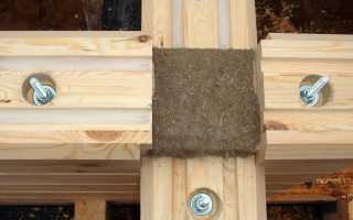Крепеж, используемый для сборки брусовых домов