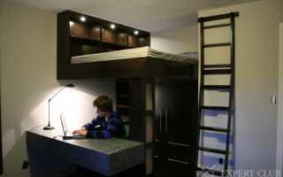 Детская кровать с рабочей зоной – даем свободу ребенку