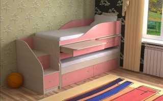 Детская двухъярусная выдвижная кровать: особенности использования