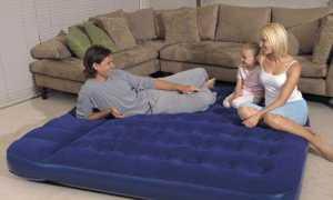 Спальный надувной матрас — типы, выбор, уход
