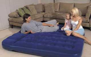 Спальный надувной матрас – типы, выбор, уход
