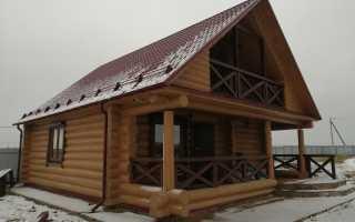 Покраска деревянного дома под ключ