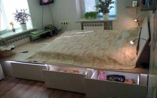 Создаем кровать-подиум своими руками