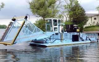 Машина для очистки водоемов