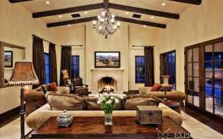 Коричневые шторы в интерьере спальни и гостиной