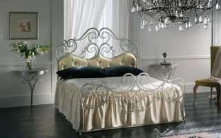 Какие бывают кровати с ковкой