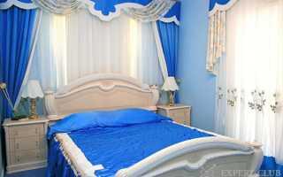 Синяя спальня как вариант цветового дизайна интерьера