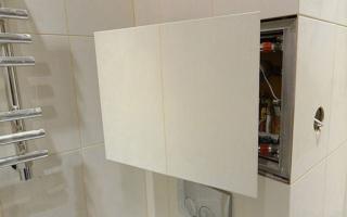 Как разместить плитку на скрытом люке