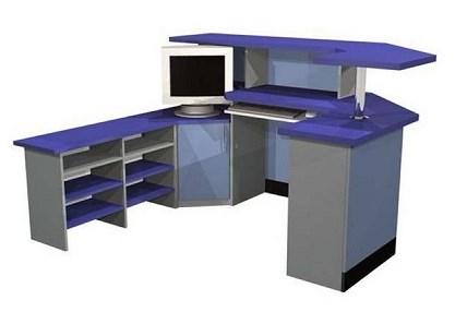 П - образный компьютерный стол